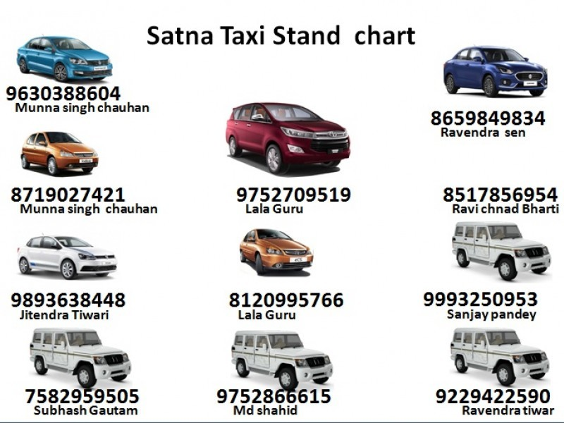 FOR TAXI , CAR SERVICE SATNA RAILWAY STATION TO DESTINATION CALL -MOB -9630388604