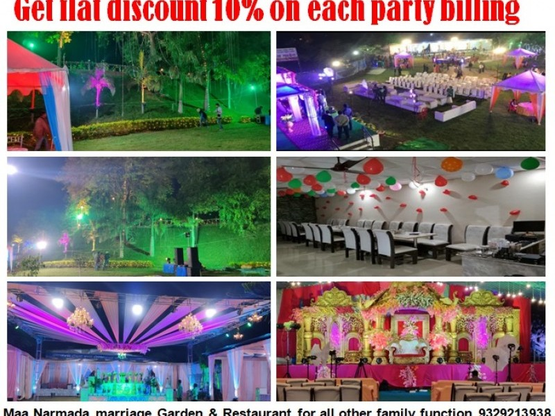 Maa Narmada marriage Garden & Restaurent  9329213398